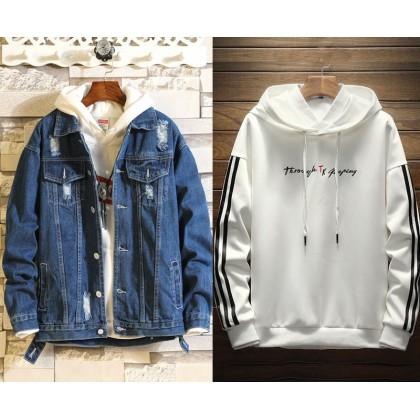 Denim Jacket 4 (with hoodie)