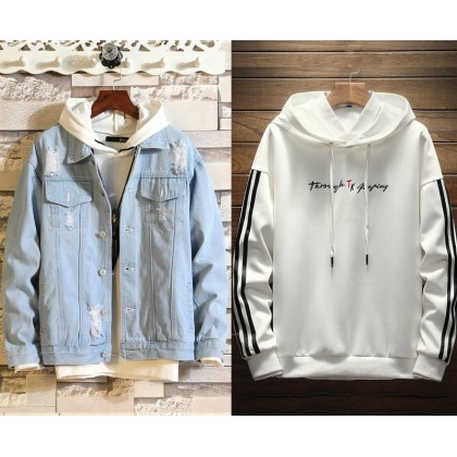 Denim jacket 6 (with hoodie)